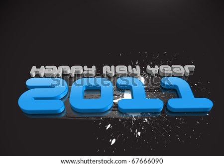 abstract new year 2011 colorful design. Vector illustration