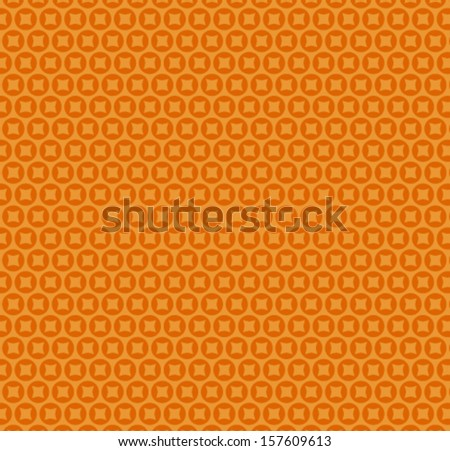Abstract orange simple seamless pattern