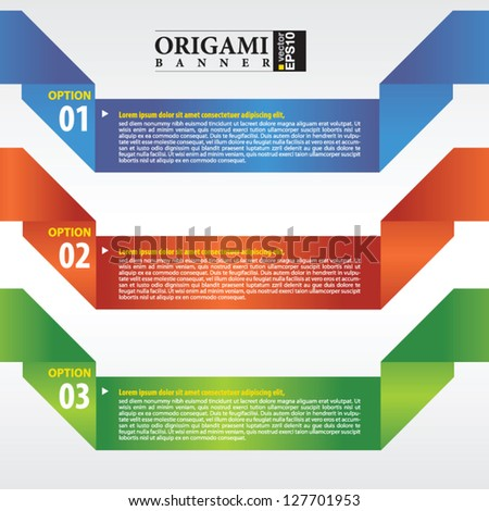 Abstract origami banner vector.EPS 10