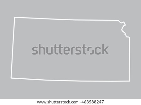 abstract outline of Kansas map