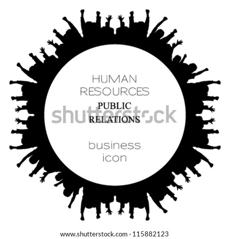 Human Public Relations Icon Logo Set 139919323