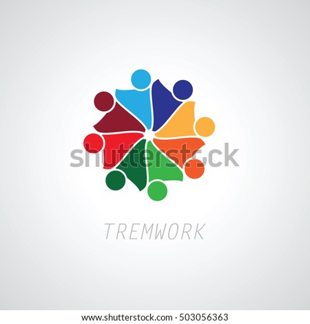 People Group Connectivity Logo Vector Graphic Stock Vector ...