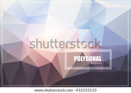 Abstract polygonal background. Low poly design. Polygonal vector background. Futuristic design.Suitable for ads, signboards, menu and web banner designs.Concept