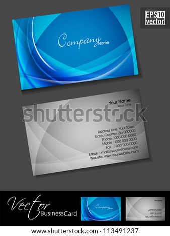 Abstract professional and designer business card template or visiting card set. EPS 10.