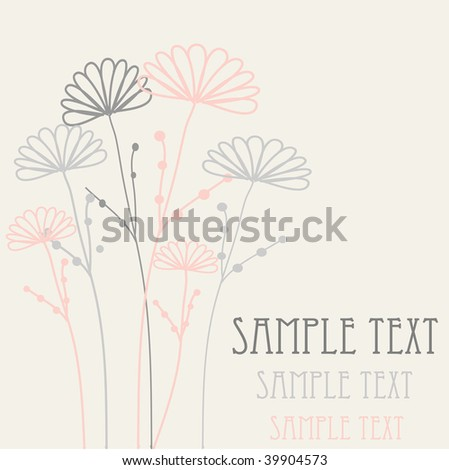Abstract retro background for greeting card. Vector