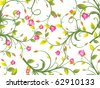 abstract romantic floral background, vector illustration - stock vector