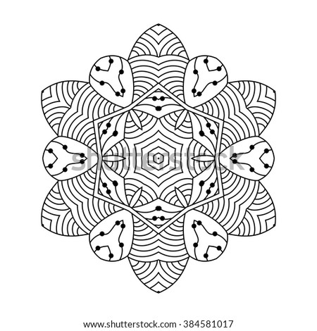 Ceremonial Abstract Line Art Animal Design