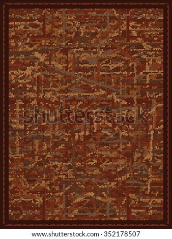 Abstract Rust Colored Carpet Design