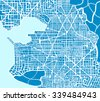 Abstract scheme plan of the city. Non-existent town plan scheme for the background and template design and creativity. - stock vector
