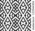 Abstract seamless black and white pattern - vector illustration - stock vector