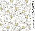 abstract seamless floral pattern - stock photo
