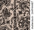 Abstract seamless lace pattern with flowers and butterflies. Infinitely wallpaper, decoration for your design, lingerie and jewelry. Your invitation cards, wallpaper, and more. - stock vector
