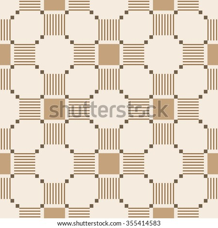 Abstract seamless pattern with geometric ornaments