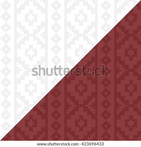 Abstract seamless pattern with ornaments of indian rug. Decorative aztec ornamental background. Can be used for textile design, bag template, packaging.
