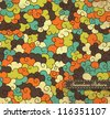 Abstract seamless pattern with small frame - stock vector
