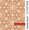 Abstract seamless pattern with small red frame - stock vector