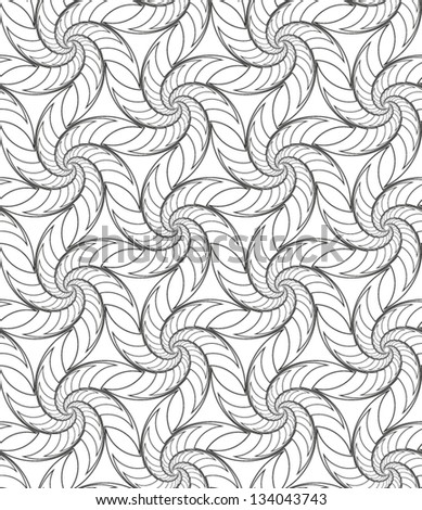 Abstract seamless vector black and white rounded pattern with triangle structure