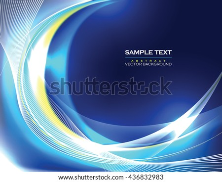 Abstract Shiny Background. Blue Sparkly Illustration.