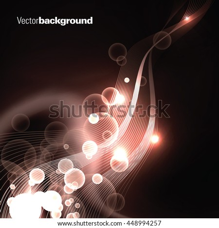 Abstract Shiny Background. Brown Sparkly Illustration.