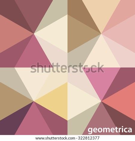 Abstract simple geometrical pattern with triangles. Vector graphic