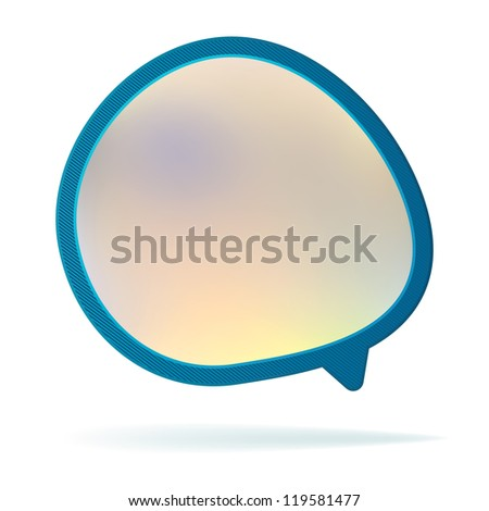 Abstract speech bubble background.  + EPS8 vector file