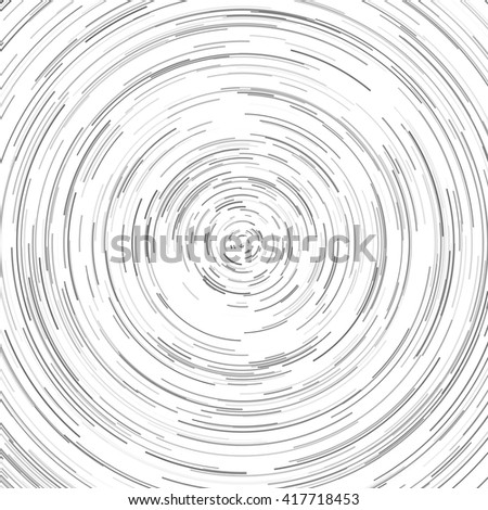 Abstract spiral element. Swirl, twirl, rotating shape. Black and white vector illustration.