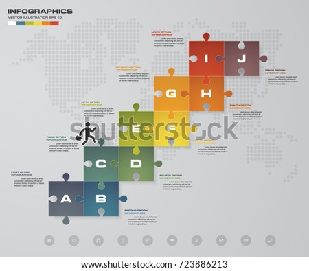 96 jigsaw puzzle blank template cutting stock vector 241331626, Presentation templates