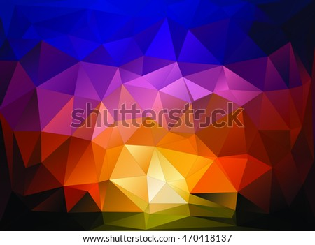 Abstract Sunset Wallpaper/Background available in vector/illustration