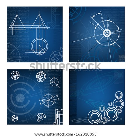 abstract techno background. vector. EPS10