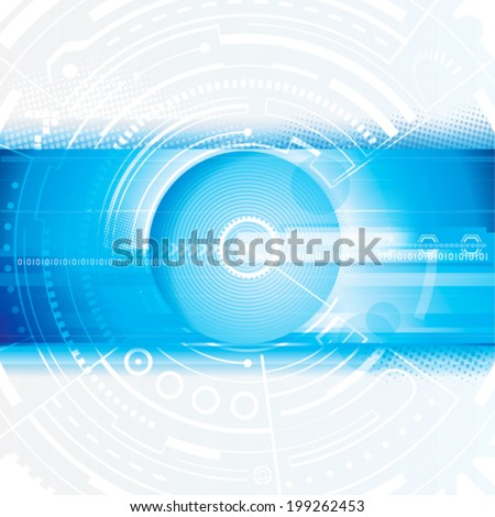 Abstract technology blue digital background. Vector.
