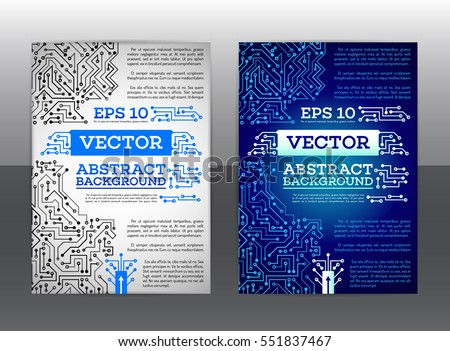 Medical Brochure Template Drugstore Flyer Vector Stock Vector - Technology brochure template