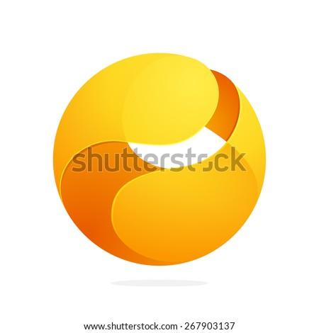 sphere net template - d letter logo baseball ball font stock vector 394534216