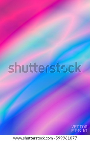 Abstract Texture Curved Pattern with Colorful Segments. Color Lines and Rainbow Waves. Vector Illustration