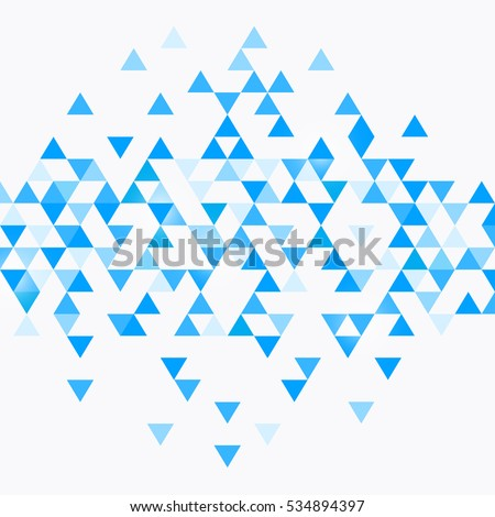 Abstract triangle blue background. vector illustration