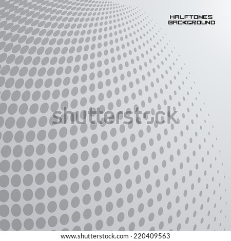 Abstract Unusual Halftone Dots Background in Gray Color . Computed Design for your Futuristic Artwork . Vector Illustration .