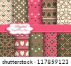 abstract Valentines day vector pattern background - stock vector