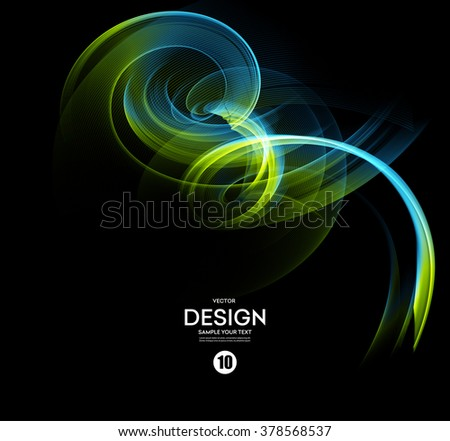 Abstract vector background, fractal futuristic wavy illustration eps10