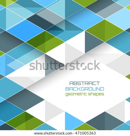 Abstract vector background with geometric shapes. Design with stripe for your text or creative editing.