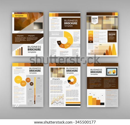 Red brochure template design orange vertical stock vector for Infographic brochure template