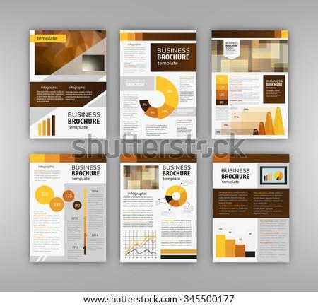 Red brochure template design orange vertical stock vector for Infographic brochure template
