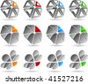 Abstract vector 3d icons such logos. - stock vector