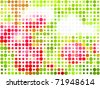 Abstract vector dots background - stock vector