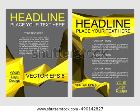 Abstract Vector Flyer Design, Annual Report Brochure, Design Templates,  Leaflet Cover Presentation.  Flyer Samples Templates