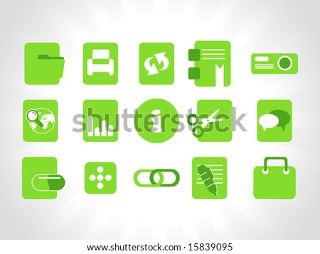 abstract vector green icons element illustrations