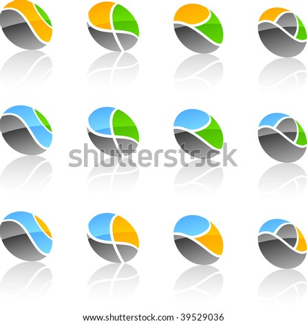 Abstract vector icons such logos.