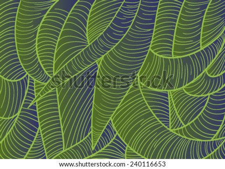 Abstract vector illustration for backgrounds with intricated tentacles