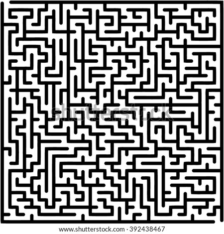 Abstract vector labyrinth of medium complexity