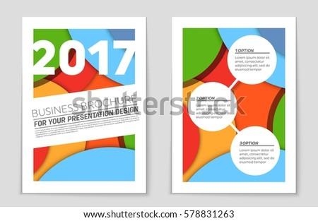 Vector Design Color Flyer Magazine Cover Stock Vector 156841958 ...