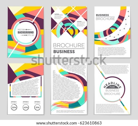 Abstract Triangle Geometric Vector Brochure Template Stock Vector ...