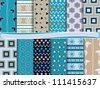 Abstract vector set of scrapbook paper - stock vector